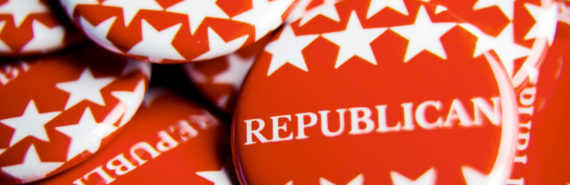 """Republicans"" pins (Republicans, politics, climate change concept)"