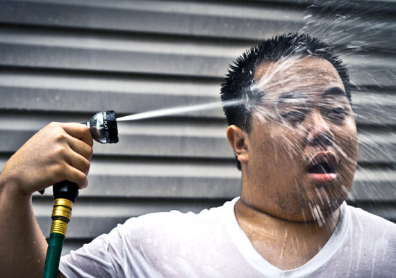hose spray heat wave