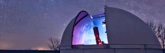 observatory under stars