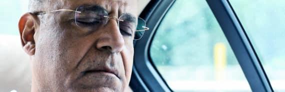 sleeping man in car