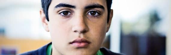 teen boy face (ADHD concept)