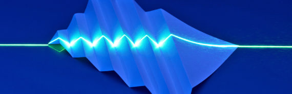 laser over paper (light pulses concept)