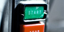 start and stop buttons (cancer and paligenosis concept)