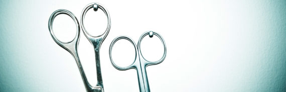 two pairs of scissors
