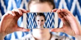 selfie portrait (social media and socializing concept)