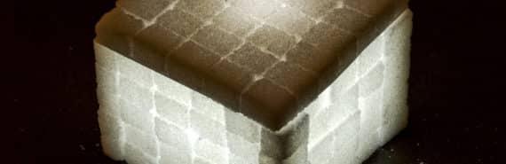 sugar cube light (lithium metal batteries concept)