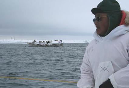 Inuit fishermen