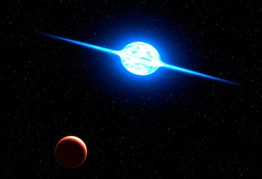 Star's ultrafast spin nearly tears it apart
