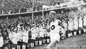 German athlete Fritz Schilgen at the 1936 Berlin Olympics.