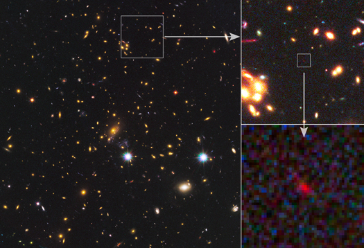 Most distant galaxy shines light on early universe