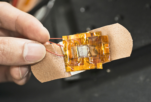 Heart monitor in a bandage