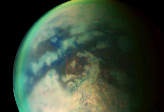 Flyby radar maps Saturn's Earth-like moon