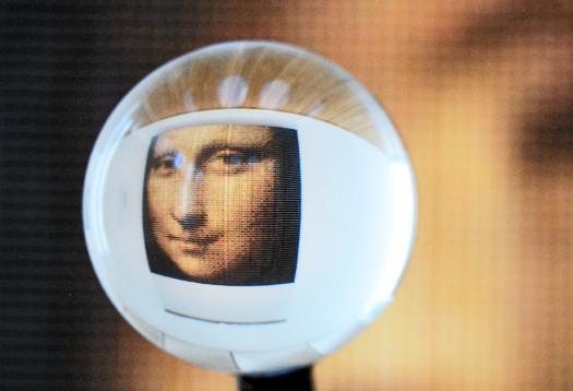 Nanotech 'paints' teeny tiny Mona Lisa