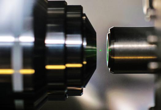 Lasers levitate nanodiamond in free space