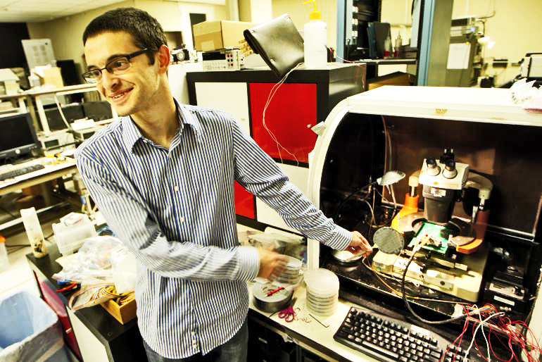 Max Shulaker, a doctoral student in electrical engineering at Stanford, who was involved in the project. (Credit: Norbert von der Groeben/Stanford University)
