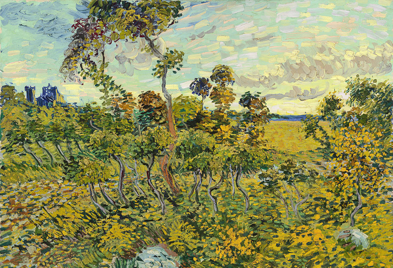 """Declared a fake, """"Montmajour"""" was banished to an attic until 1970. The current owners brought it to the Van Gogh Museum in 1991, and at that time the museum's experts doubted its authenticity—a decision they now describe as """"a painful admission."""" (Credit: Wikimedia Commons)"""