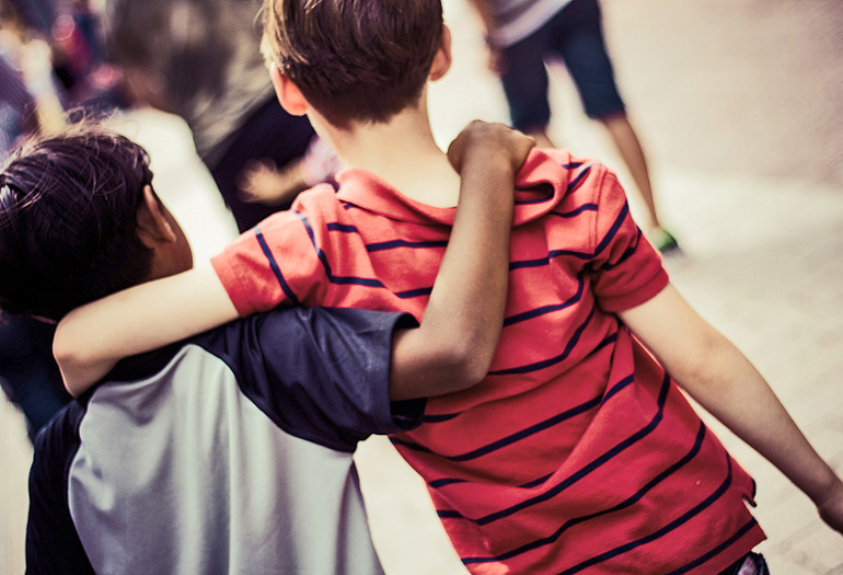 Well-meaning friends influence kids after school