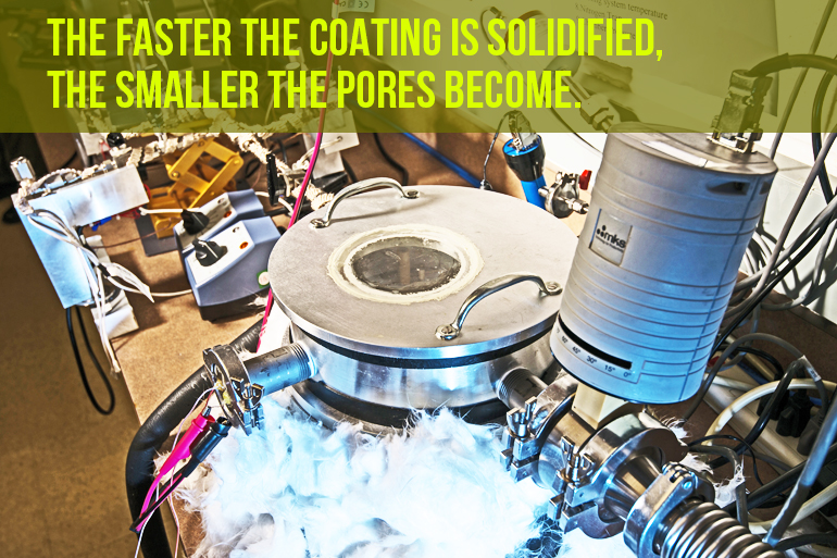 An initiated chemical vapor deposition (ICVD) system is used to convert a mixture of gases into foam polymer.