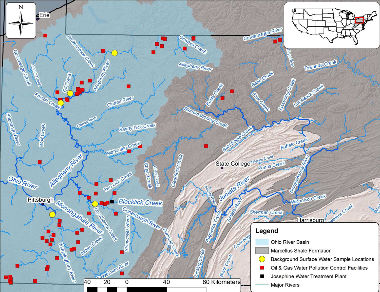 Fracking linked to radioactive river water in Pennsylvania