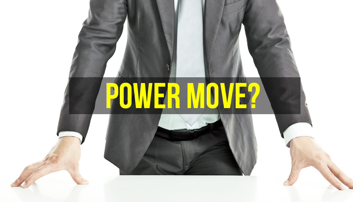 To look powerful, put your hands (not feet) on the desk