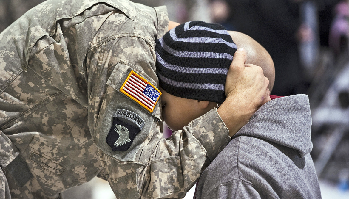 Kids of deployed soldiers more likely to consider suicide