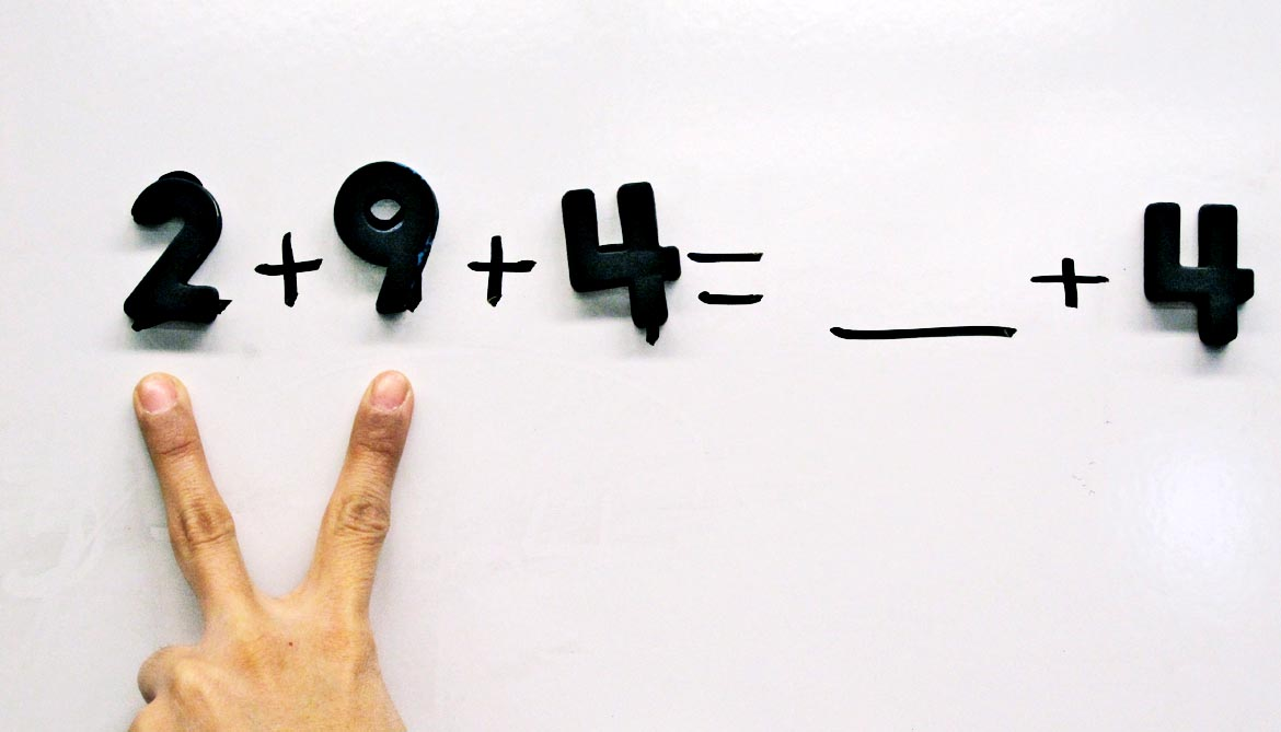 Kids 'get' math when they use their hands