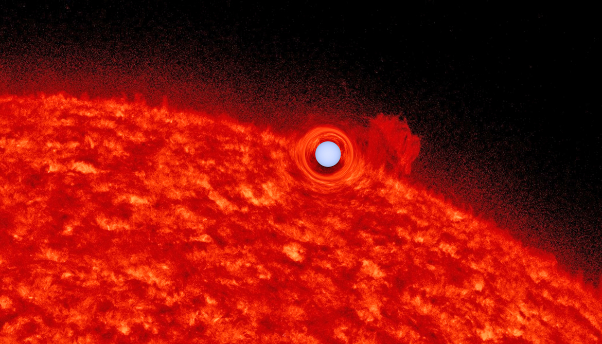 'Upside-down planet' turns out to be self-lensing stars