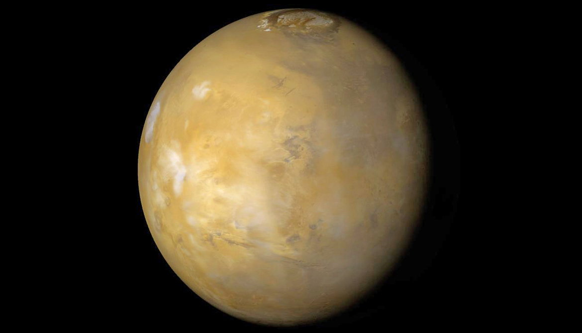 Volcano blast likely melted ice to make lakes on Mars