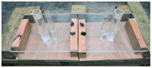 Uncovered U-tube experimental set up.