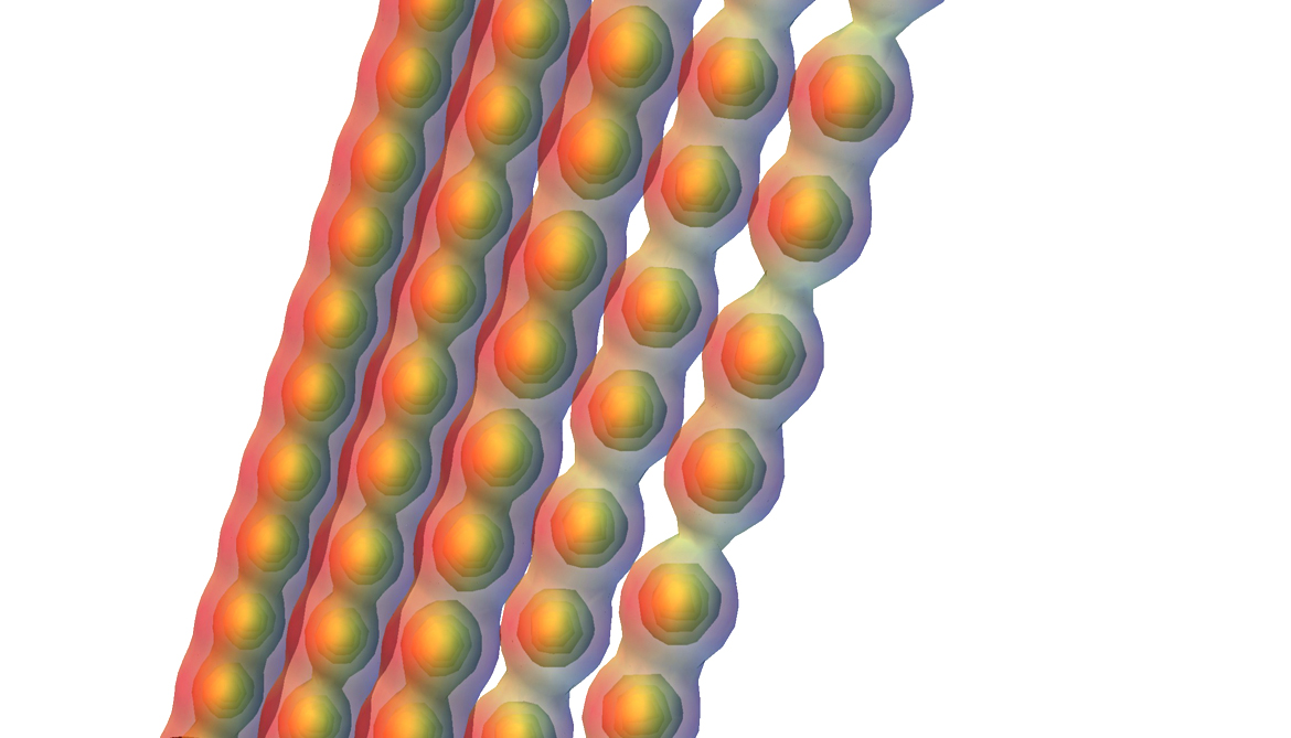 carbyne turns from metal to semiconductor