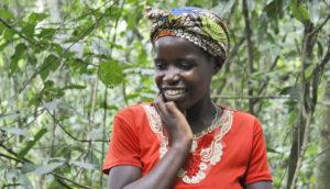 Batwa woman in Uganda
