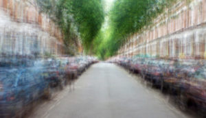 overlayed photos of the same street