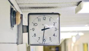 retro hospital clock