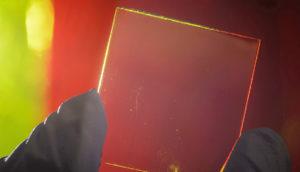 transparent luminescent solar concentrator waveguide