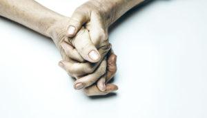 senior woman's hands