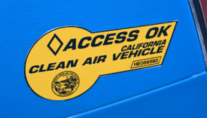 clean air vehicle sticker for California hybrid cars
