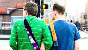 gay couple walking