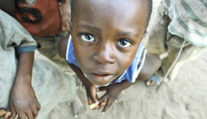 young boy in Tanzania