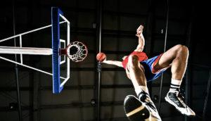 basketball player's knees