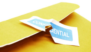 envelope with confidential sticker