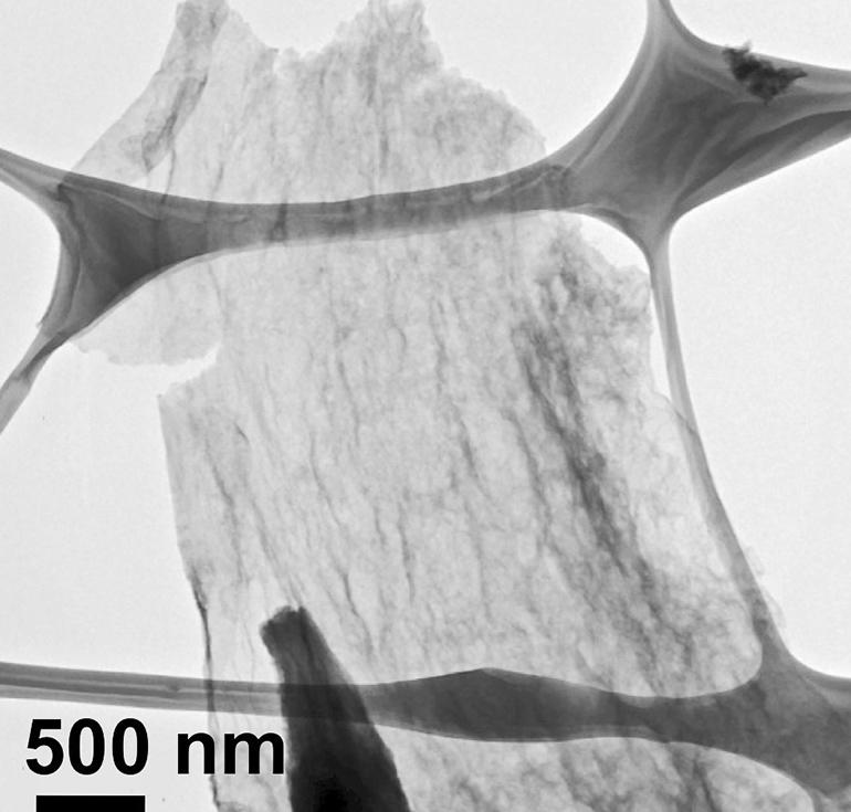 nanoplatelet as seen under an electron microscope