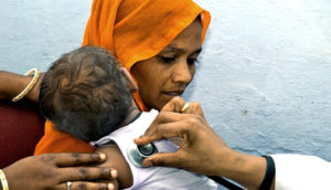 Indian baby gets check-up