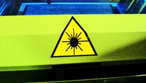 laser danger sign