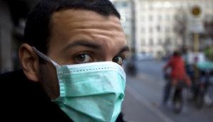 man wearing a medical mask