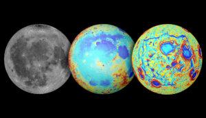 three views of the moon