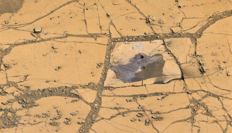 drill holes on Mars