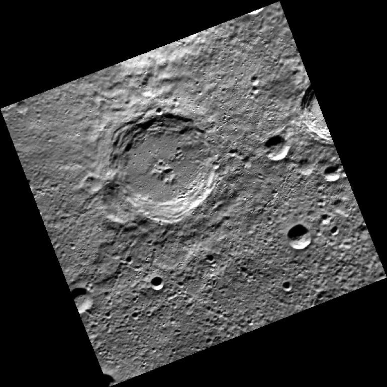 """Dickens"" crater on Mercury"