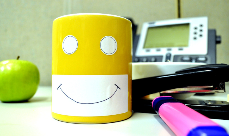 happy mug at work