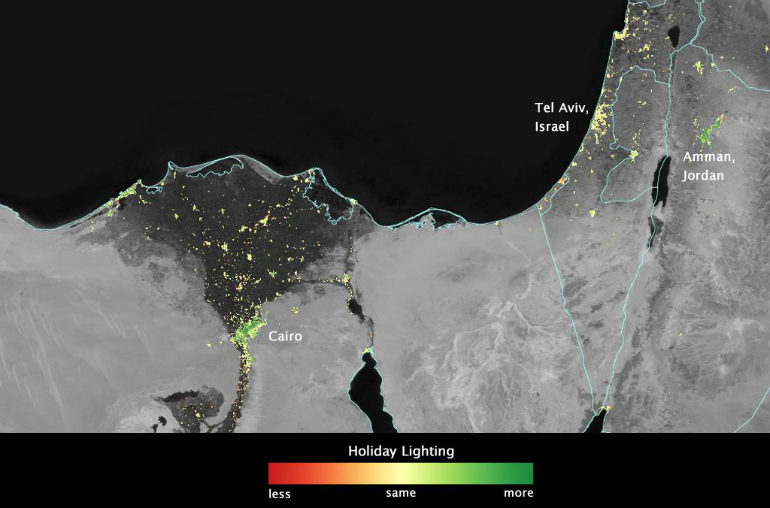 Ramadan lights in the Middle East