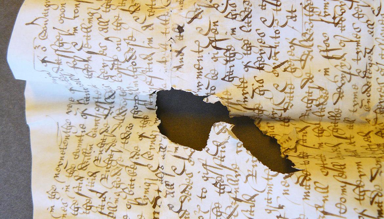damaged parchment